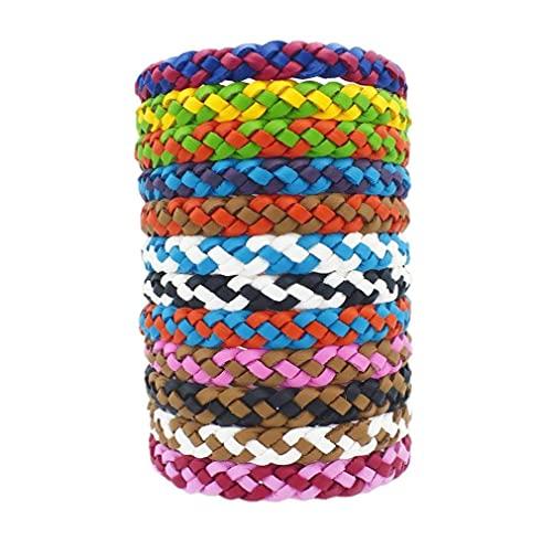 EElabper Bracelet Anti-Moustique, 12 pcs réutilisables Régla