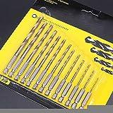 Yongenee 13pcs / lot HSS acero de alta velocidad de titanio recubierto Taladro Bit Conjunto vástago hexagonal 1/4 1.5-6.5mm fresa espiral herramientas de carpintería de metal se establece herramientas