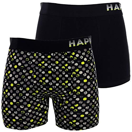 Happy Shorts 2 Pants Jersey Trunk Herren Boxershorts Boxer witzige Designs D14, Grösse:XL - 7-54, Farbe:Design 014