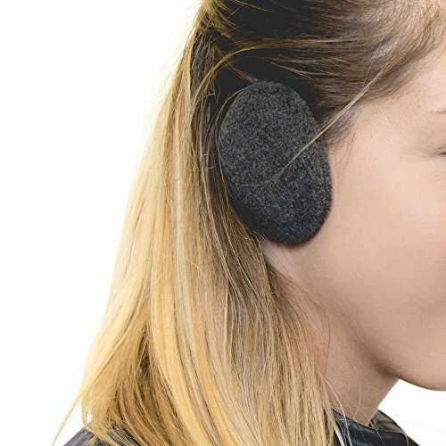 Sprigs Earbags Bandless Ear Warmers/Fleece Earmuffs with Thinsulate - Charcoal, Medium