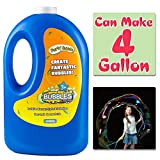 Bubble Solution Refill(Can Make 4 Gallon), Concentrated Bubble Soap 54 Ounce Big Bottle for Jumbo Giant Bubble Wand Blower Machine Gun Maker, Bath Time, Summer Outdoor for Girl Boy Kid Child