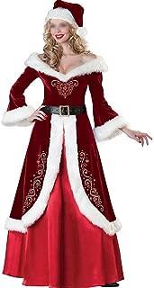 QINZIXIA EU Vestido de Corte Ropa de época de Navidad Trajes de Navidad for la Ropa de Adultos Navidad Larga sección de Trajes de la Etapa Bar (Color : Red, Size : XL)