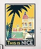 Jryuplzs Provence Nizza Poster Popkunst Reise Leinwand
