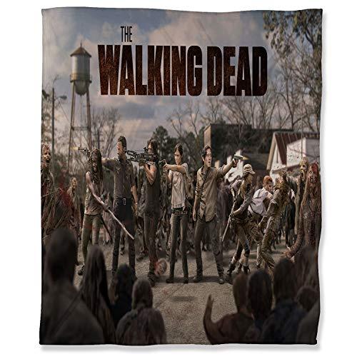ARYAGO Manta de microfibra suave y mullida de 100 x 130 cm, de The Walking Dead, suave manta de felpa para sofá cama, sofá cama, Rick Daryl Glenn Maggie