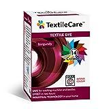 TextileCare Tinte de tela para lavadora para ropa y textiles, 350 g de tinte para ropa de 600 g, 14 colores (burdeos)