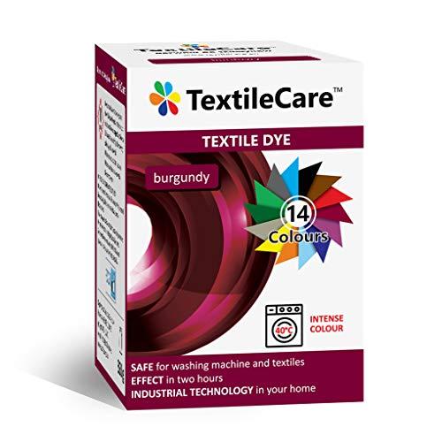 TextileCare Tinte para ropa y textil, 350 g de tinte para ropa de 600 g, 14 colores (Borgoña)