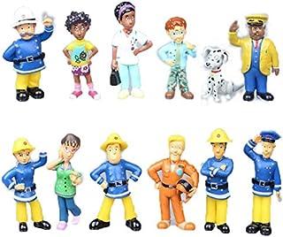Fireman Sam Action figure Toys Cute Cartoon PVC Dolls 12 pieces