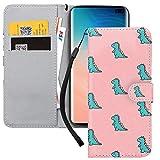Yoedge Funda para Samsung Galaxy A42 5G 6,6', Rosa Carcasa de Cuero PU con Soporte Plegable con Soporte/Ranura de Tarjeta Cubierta Protectora Tipo Libro Cover para Samsung A42 5G, Cocodrilo