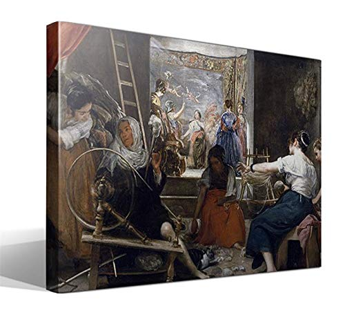 Cuadro Canvas Las Hilanderas o La fábula de Aracne de Diego Rodríguez de Silva y Velázquez