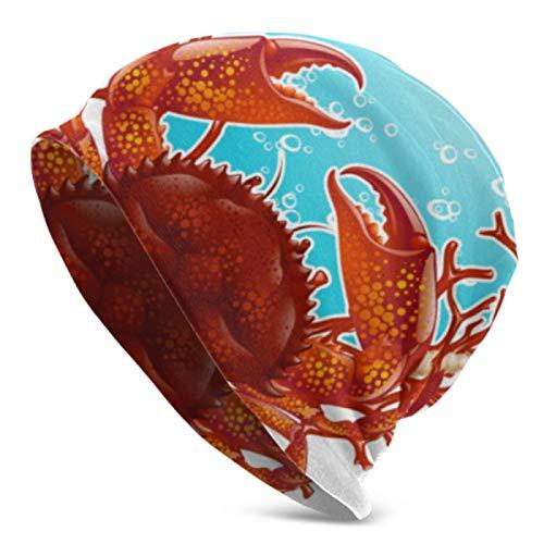 AEMAPE Gorros para hombres y mujeres cangrejo rojo coral marco Beanie Cap elástico suave Beanie Cap
