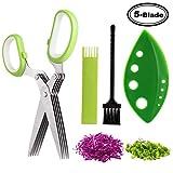 Smart Mom 5 Blade Herb Scissors/Fringing Scissors/Herb Cutter Chopper Mincer/Kitchen Scissors/Fringe Scissors, Style A (5 Blade Scissors Only)