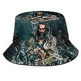 Sombrero de Pescador Aqua-Man Verano Protección UV Sombreros de Cubo de Viaje Gorra de Sol Plegable de Playa para Hombres Mujeres-895