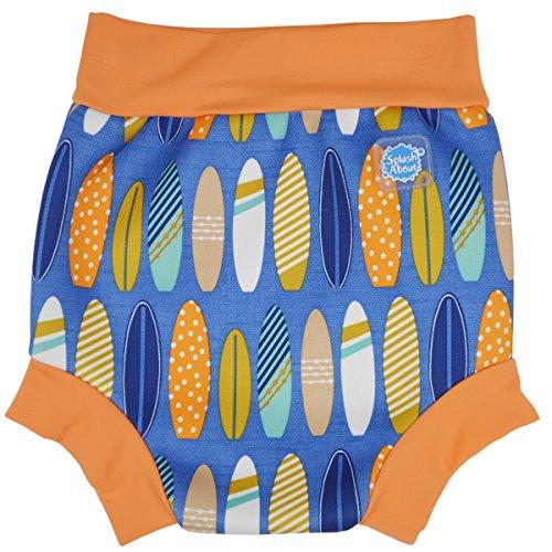 Splash About Baby Happy Nappy Wiederverwendbar Schwimmwindel, Blau (Surfs Up), Gr. Medium (Herstellergröße: 3-8 Months)