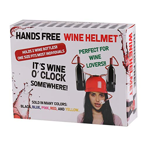 Wine Helmet Gag Gift - Prank Wrapping Bang Snaps Funny Joke Package Best Boxes - Novelty Gift for Adult or Kids