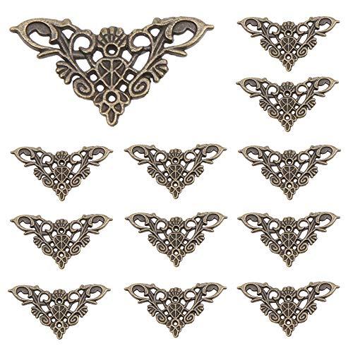 30 Stks Houten Doos Versiering Antieke Stijl Hoekbeschermers Hollow Out Driehoek Hoek voor Decoratieve Kast Sieraden Doos