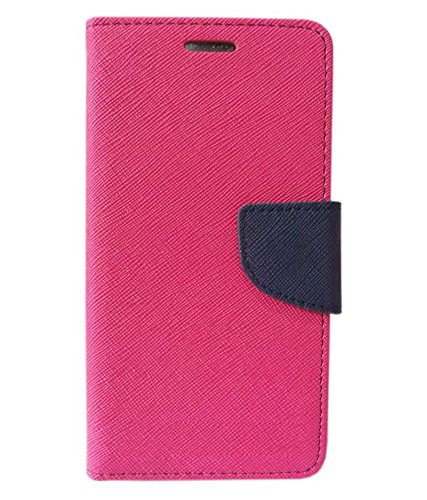 COVERBLACK Mercury Pocket Flip Cover for Huawei Honor 7A -V100R001 / AUM-AL20 - Pink::Blue