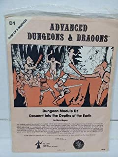Descent Into the Depths of the Earth: Dungeon Module D1 (First of 3 Modules) (Advanced Dungeons & Dragons)