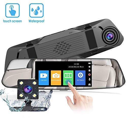 Telecamera per Auto - VGROUND Dashcam per Auto 4,8 Pollici 1080P Front Cam e 720P Impermeabile Backup Cam, Car Dash Cam Kit con G-Sensor, Loop Recording, Sistema di Monitoraggio