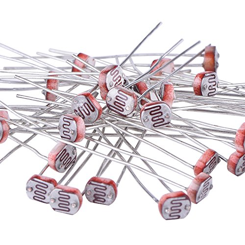 eBoot 30 Pieces Photoresistor Photo Light Sensitive Resistor Light Dependent Resistor 5 mm GM5539 5539