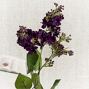 Silk Flower Arrangements TRRT Fake Plants Artificial Lilac Flowers, Beautiful Silk Artificiales for Home Wedding DIY Decoration Fake Hand Flower Fake Flower (Color : Dark Purple)
