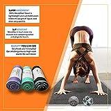 YOOMAT Toalla de Yoga Antideslizante Estera de Yoga Caliente Toalla de Yoga de Microfibra para Yoga...