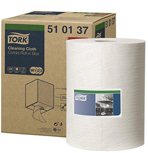 Tork 520304 Industrie Reinigungstücher für W1 Bodenständer- und Wandhalter-System / 1-lagige Putztücher in Grau / Premium Qualität / 1 x 361 m