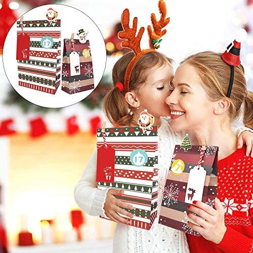 Hook Weihnachtssack Nikolaussack Groß, Weihnachtsmann Sack Groß Geschenkesack Weihnachten(Rot und Weiss, 70 x 110 cm, weihnachtsmann Brille, Weihnachtsmannglocke Glocke (Purpur)