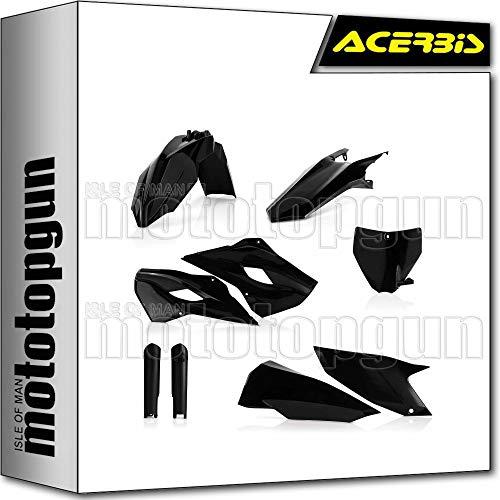 acerbis 0017705 kit plastico completo negro compatible con husqvarna fe 450 2014 14 2015 15