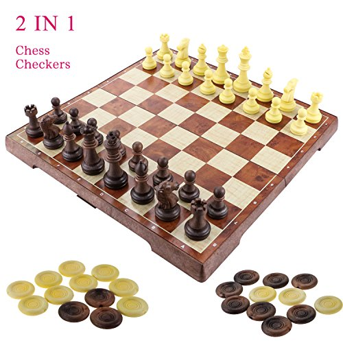 Fixget 2 In 1 Chess Set,12 \