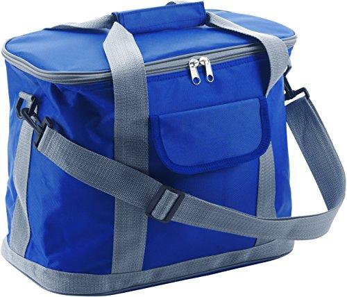 Sac isotherme bleu cobalt en nylon 420D de qualité supérieure avec bandoulière