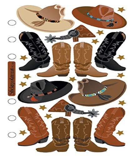 Sticko SPPC08 Klassische Aufkleber, Cowboy-Hüte und Stiefel