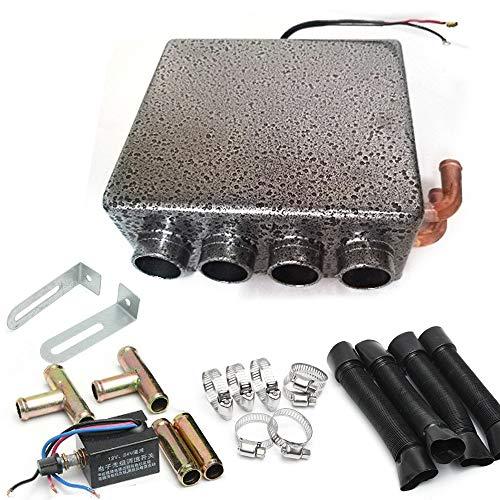 Calefacción de aire de estacionamiento, calefactor de aire para coche, de color gris, de bajo consumo, elemento calefactor de temperatura constante (23 x 21 x 10 cm)