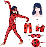 SAGEIVE Girls Costume Jumpsuit Beetle Dress Up with Blue Wig Suit for Kids Cosplay Birthday Party
