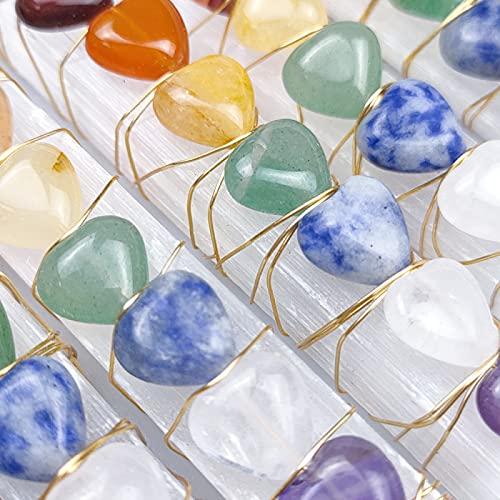CMJGHDL Piedra de Selenita Natural Péndulo de Reiki Chakra Grava Yeso Varita de Rosa Yoga Cristal de Curación Cuarzo Energía Espiritual Gemas Equilibrio