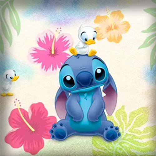 Anime Diamond Painting Kits for Adults Kids, 5d Diamonds Art with Tools Accessories, Cute Stitch Disney Paintings DIY Arts Dotz Craft for Home Décor, Ideal Gift for Family or Self Use