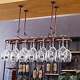 AERVEAL Alenamiento de Vino Estante para Copas de Vino Debajo Del Gabinete Estante para Vino Soporte para Vidrio Acero Inoxidable Acabado en Cromo Soporte para Copas para Colgar Alenamiento Fácil de