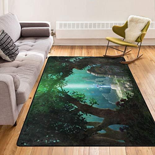 Caimizogojocrz The Legend Of Zelda - Alfombra antideslizante para salón, dormitorio y niños, 213,4 x 152,4 cm