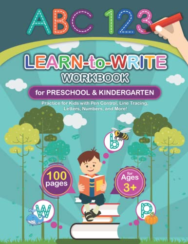 Compare Textbook Prices for Learn-to-Write Workbook for Preschool & Kindergarten: Practice for Kids with Pen Control, Line Tracing, Letters, Numbers, and More  ISBN 9798499995198 by Studio, Pixotic