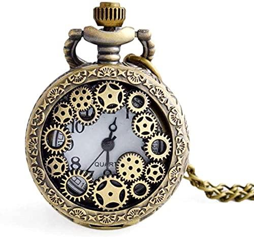 Reloj de Bolsillo Reloj de Bolsillo de Cuarzo con Cadena Vintage Reloj de Bolsillo con Cadena Colgante Reloj de Bolsillo Casual de Bronce Doctor Who Reloj de Bolsillo