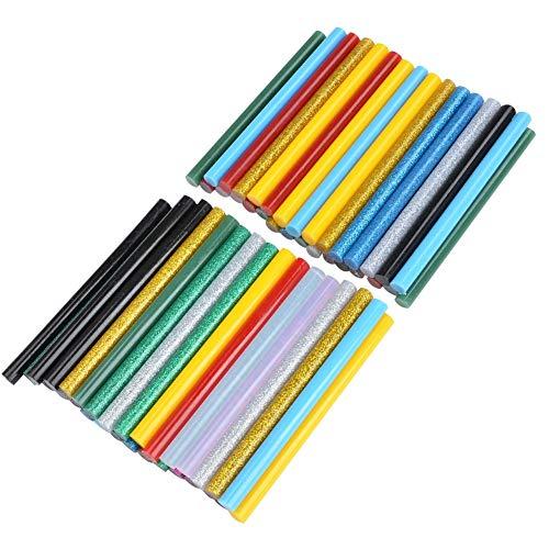 ATPWONZ 0.28x4 Multicolored Hot Glue Gun Sticks, 30pcs Glitter Glue Sticks & 30pcs Colorful Glue Sticks Mini for DIY Art Craft