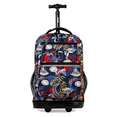 J World New York Sundance Laptop Rolling Backpack, Botanic, One Size
