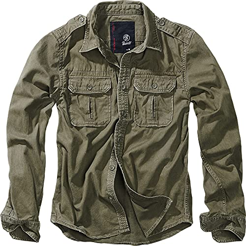 Brandit Vintage Shirt Longsleeve Oliv 5XL