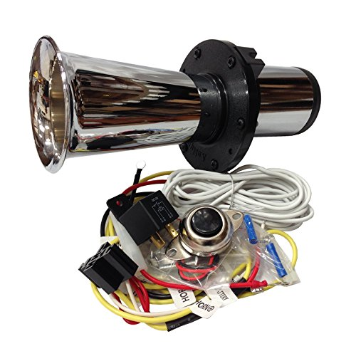 OEMLINK International LTD OOGA Horn Chrome Antique Classic Car Hot Rod Oooga Ahooga with Installation Wire kit and Button