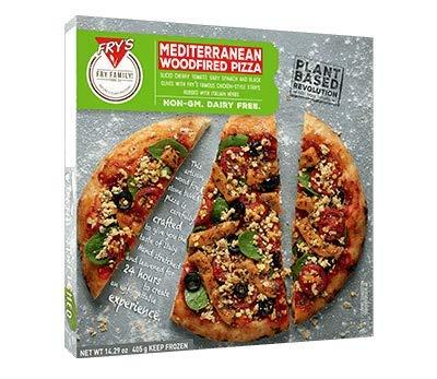 Frys Family Foods Pizza mediterránea de leña 405g | Pizza italiana | Vegano | CONGELADO (Pack de 6)