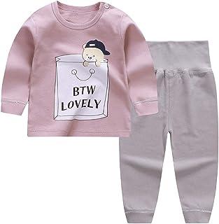 URMAGIC Baby Boys Pajamas Sets Cartoon Pattern Long Sleeve Pajamas Tops Pants Hats Sets for 12-18 Months