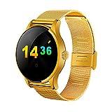 Beautyrain 1 Stück K88H Blueteeth Smartwatch Support Herzfrequenzüberwachung wasserdichte Uhr Schwarz/Gold/Silber/Roségold
