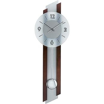 Design Orologio da parete a Pendolo Modern con vetro minerale e metallo ams Orologio radiocontrollato Golden