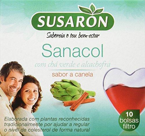 Susarón Sanacol con Té Verde y Alcachofa Sabor a Canela - 60 bolsitas para infusionar