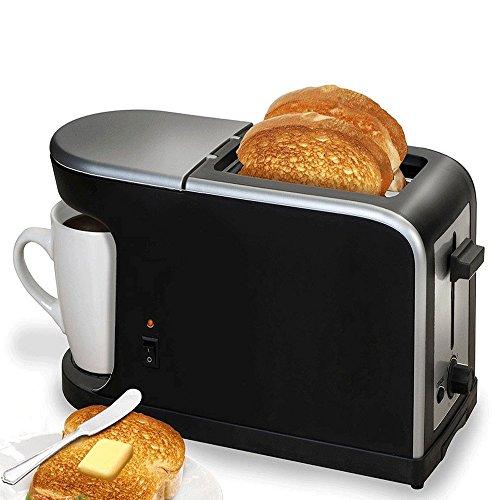 FISHTEC ® Breakfast 2 en1 - Cafetera - Tostador 900 w