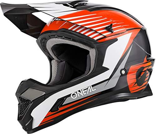 O'NEAL 1 Series Stream Youth 2021 Oneal - Casco infantil para bicicleta de montaña y motocross, talla XL, 53/54 cm, color negro y naranja